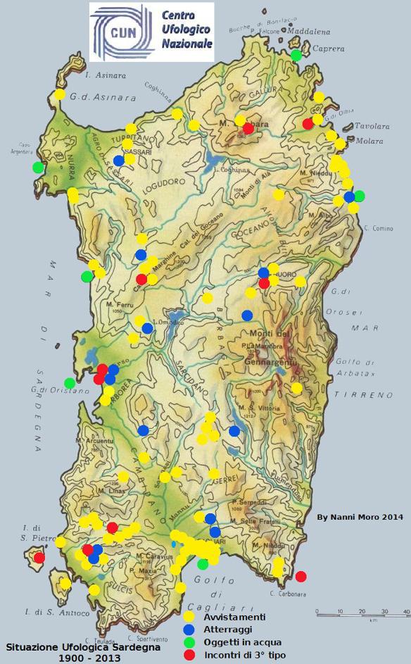 News pubblicata la mappa della sardegna con le localit coinvolte in attivit ufo e la rassegna stampa pdf dellarticolo pubblicato su lunione sarda thecheapjerseys Images